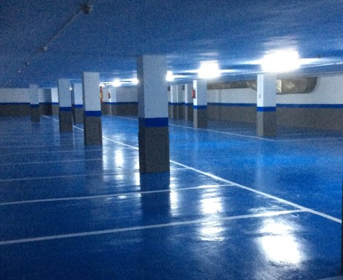 Renovación de suelos en parking